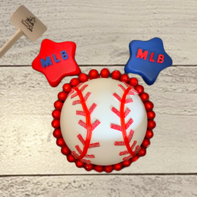 Baseball SmashCake (Red Border)
