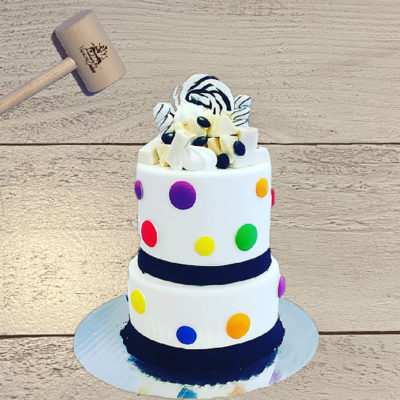 2-tier Polka Dot WillyWonka SmashCake